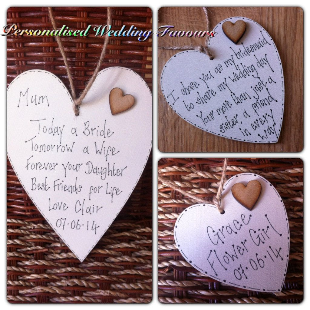 Personalised Wedding Favours Bridesmaid Gift Flowergirl