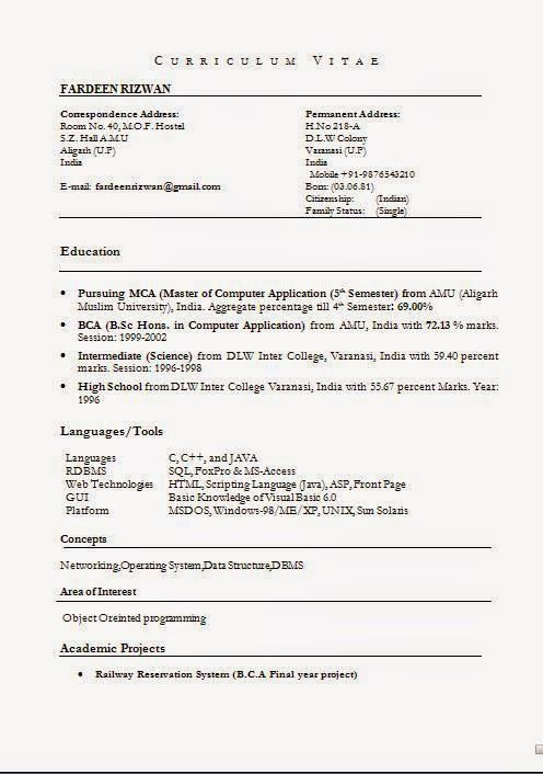 format of resume in pdf Sample Template Example ofExcellent CV