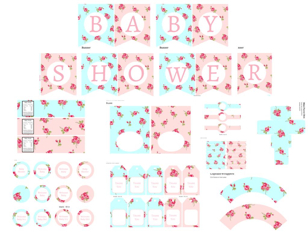 Free Shabby Chic Baby Shower Printable Via Byshowerideas4u