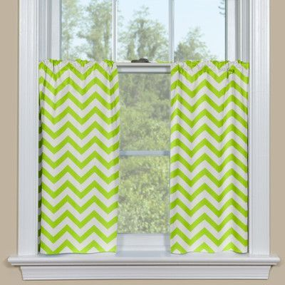 Contempo Curtains Zig Zag Tier Curtain Color Green Size 36 H X