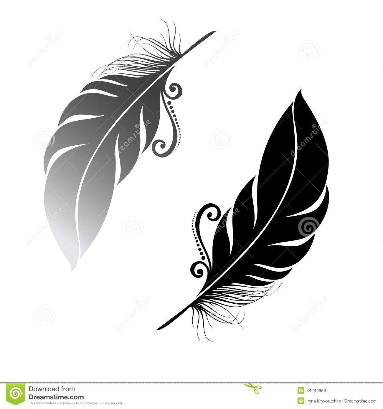 Oiseau abstrait de plume fleur pinterest plumes oiseaux et tatouages - Signification des plumes d oiseaux ...