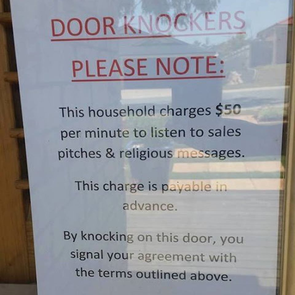 Brilliant this household charges 50 per minute to for Door quotes funny