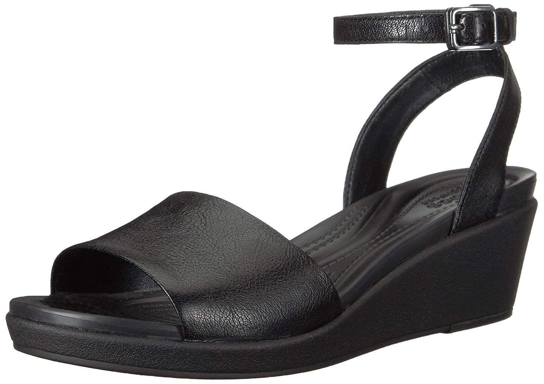 Memela Womens Grace Leather Adjustable Walking Sandal Platform Wedges Loafers Sandals Shoes