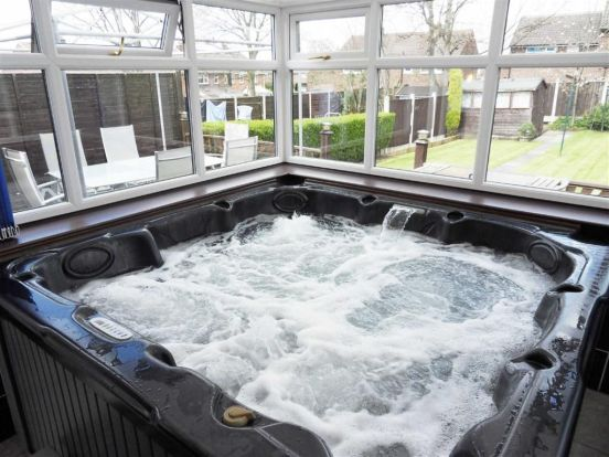Check Out This Property For Sale On Rightmove Hot Tub Room Hot Tub Hot Tub Backyard
