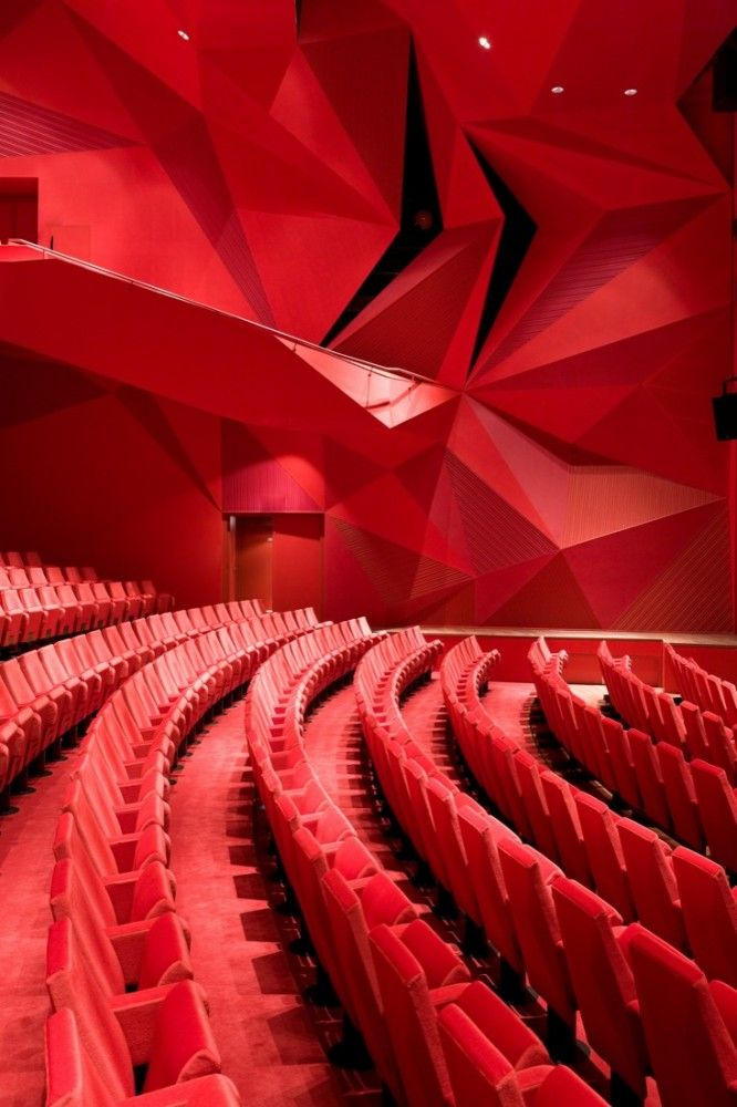 Theatre Agora in Lelystad, The Netherlands by UNStudio. Photo by Iwan Baan.