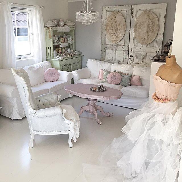 Stile romantic shabby a casa di mariann shabby romantic and living rooms - Stile shabby casa ...