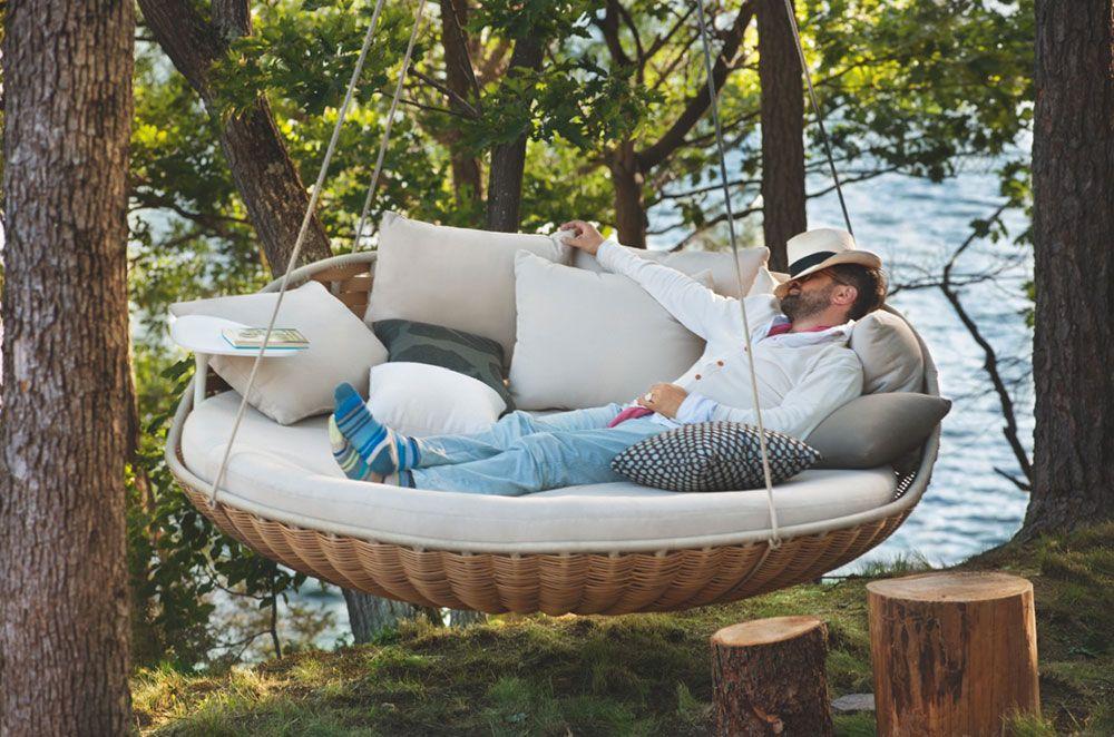 Gartensofas Hängesessel Swingrest von Dedon Storchenweg - designer gartensofa indoor outdoor