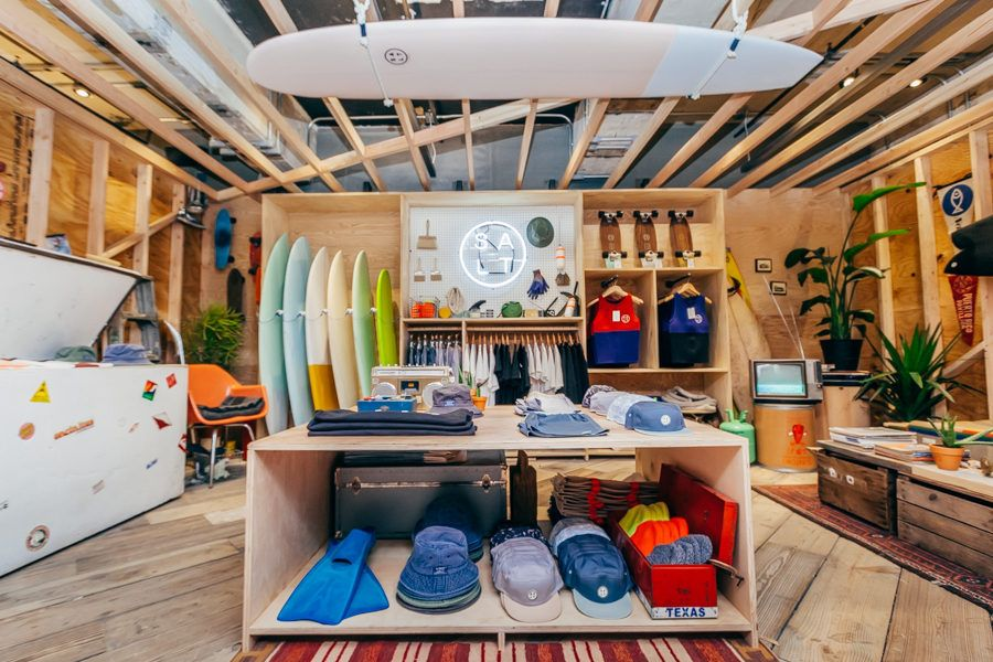 Photos Tour The Urban Outfitters Concept Store Space Ninety 8 Surf Shop Interior Surf Store Shop Interior