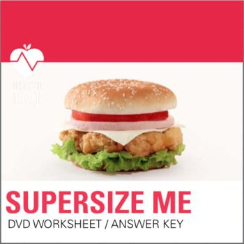 Supersize Me Dvd Nutrition Movie Fast Food Worksheet And Answer