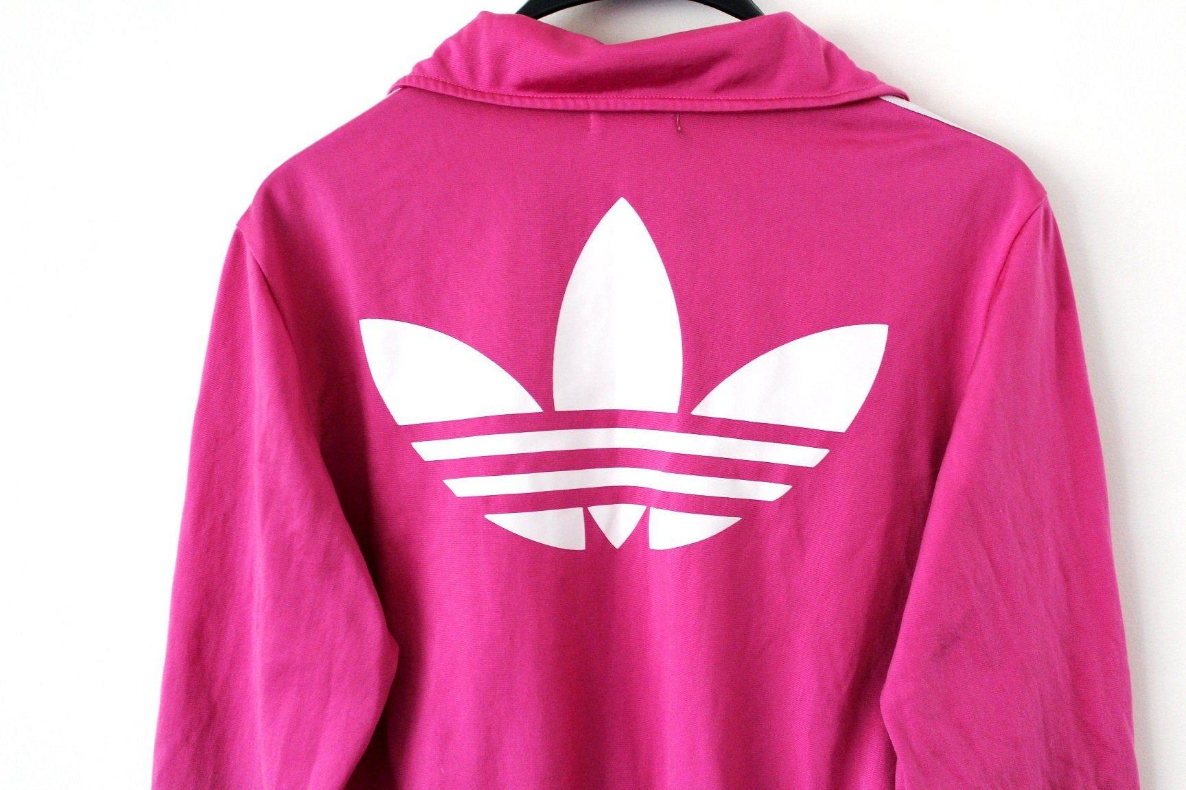 Existe Velas consola  Vintage Adidas Trefoil Jacket Pink White Adidas Windbreaker Adidas  Tracksuit Rare Women's Adida… | Pink and white adidas, Adidas windbreaker, Pink  adidas sweatshirt