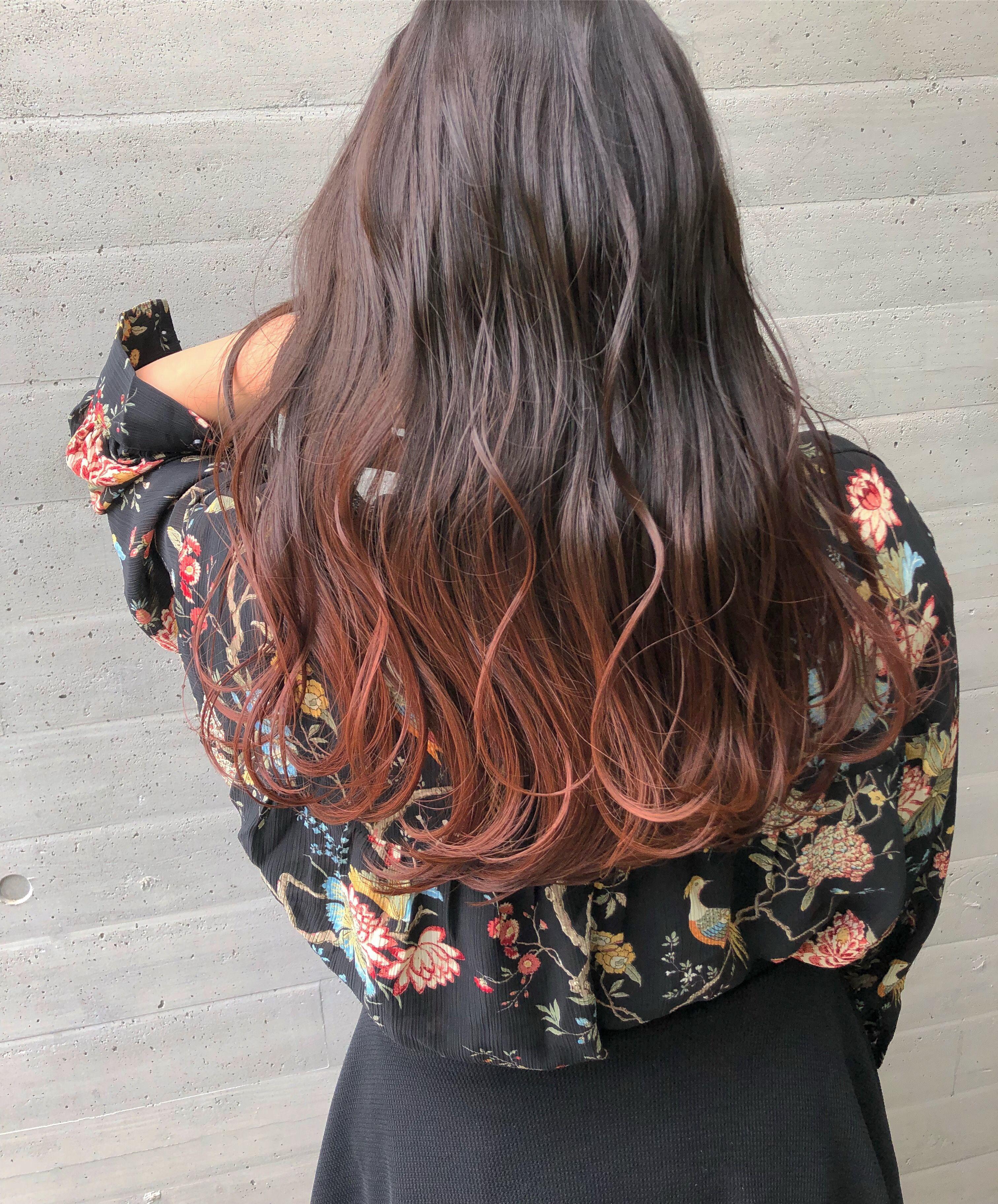 暖色系カラーのポイント 毛髪染料 グラデーション ヘアカラー