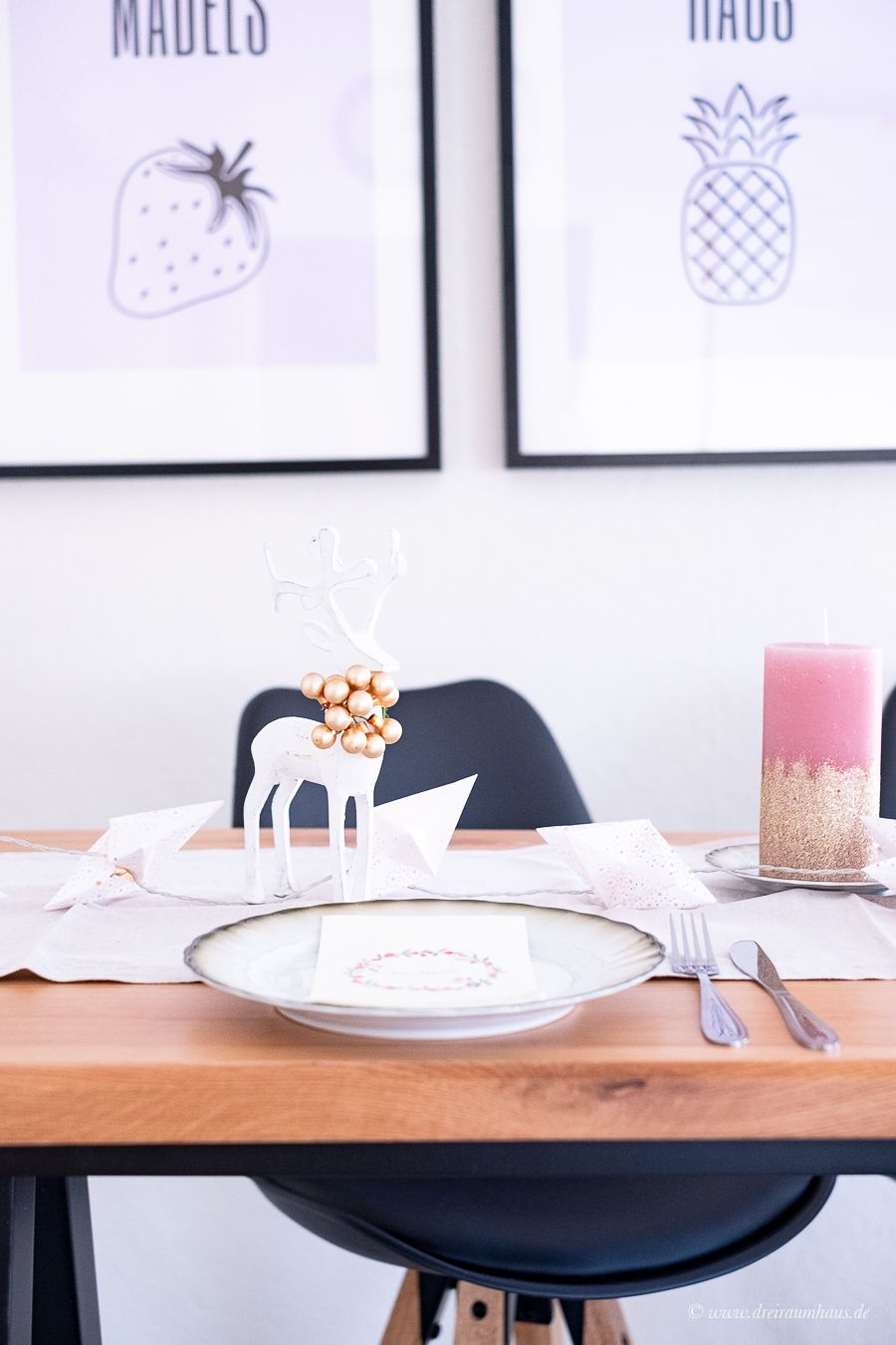 Kuchenecke Und Tischdekoration Mit Danisches Bettenlager Bartisch