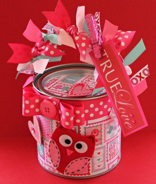 Valentine Gift Container: Teacher Gift, Via Etsy