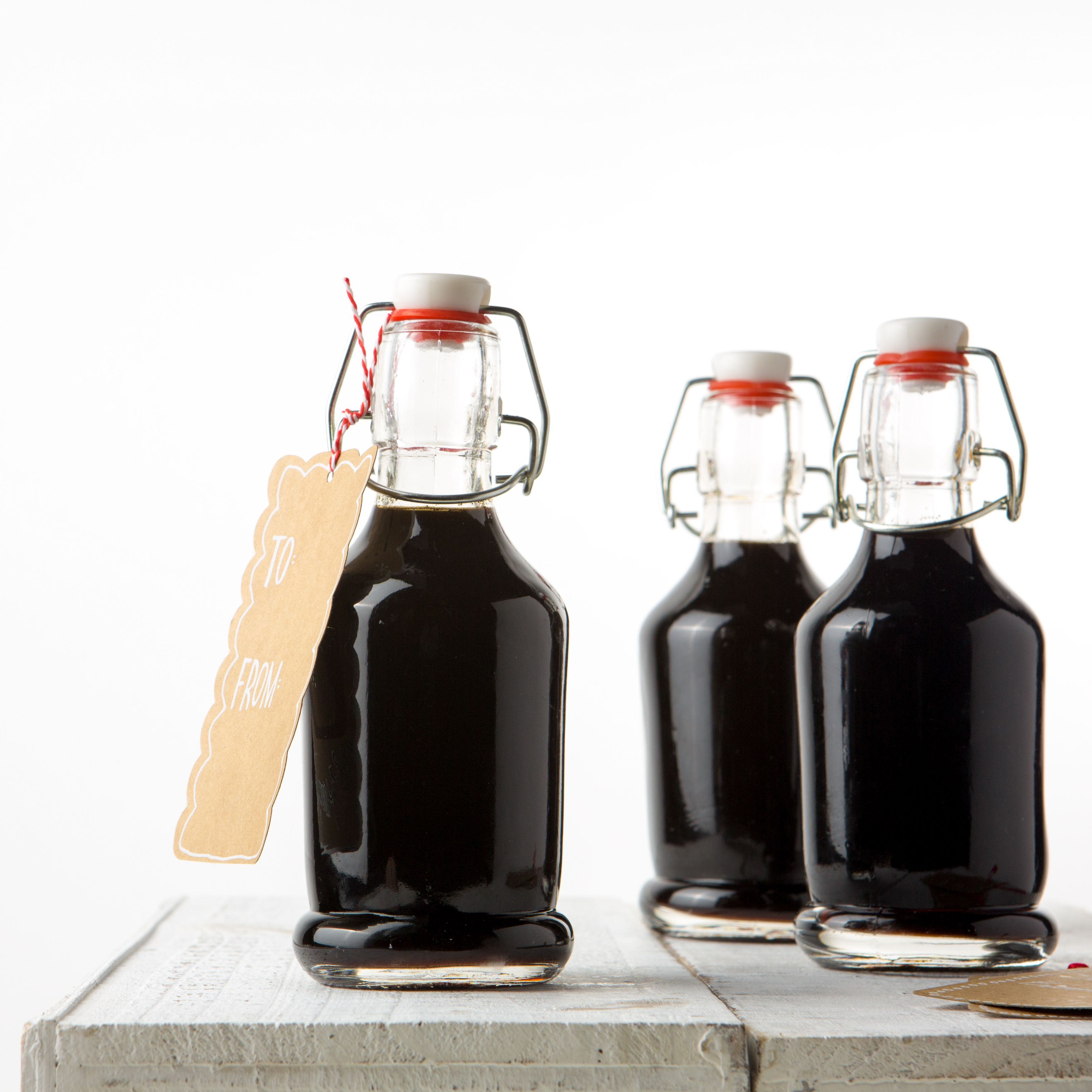 Great DIY gift idea.... homemade coffee liqueur.