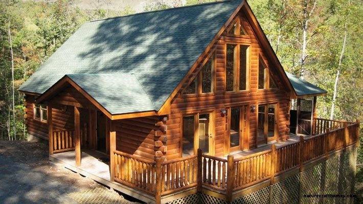 Standard, Premium and Green Packages available. Acadia Log Home Kit has 2 bedrooms and 2 baths. 1280 total square feet.