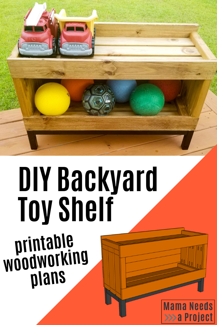 Backyard Toy Storage Shelf Free Building Plans With Images Outdoor Toy Storage Diy Outdoor Toys Toy Storage Shelves