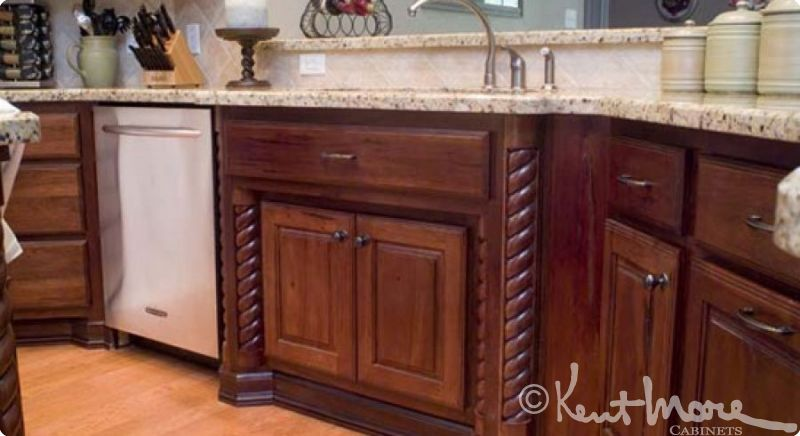custom kitchen cabinets by kent moore cabinets rustic hickory wood with burnt sienna stain with - Kent Kitchen Cabinets