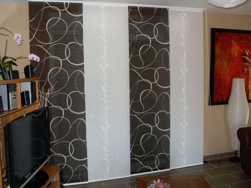 panneaux japonais sur mesure demmerle et fils rideau pinterest panneau japonais panneau. Black Bedroom Furniture Sets. Home Design Ideas