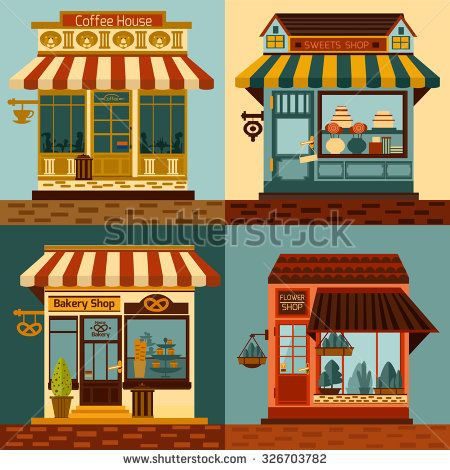 Line Drawings Of Shop Fronts Google Search Shop Fronts Shop Facade Line Drawing