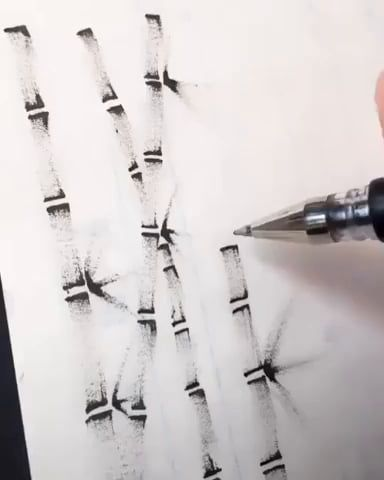 Simple yet beautiful way to draw bamboo