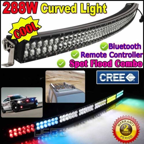 Cree 288w 52 Curved Led Light Bar Wireless Remote Control