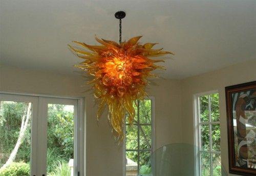 Kaindl Art Glass Chandeliers Fire Flame