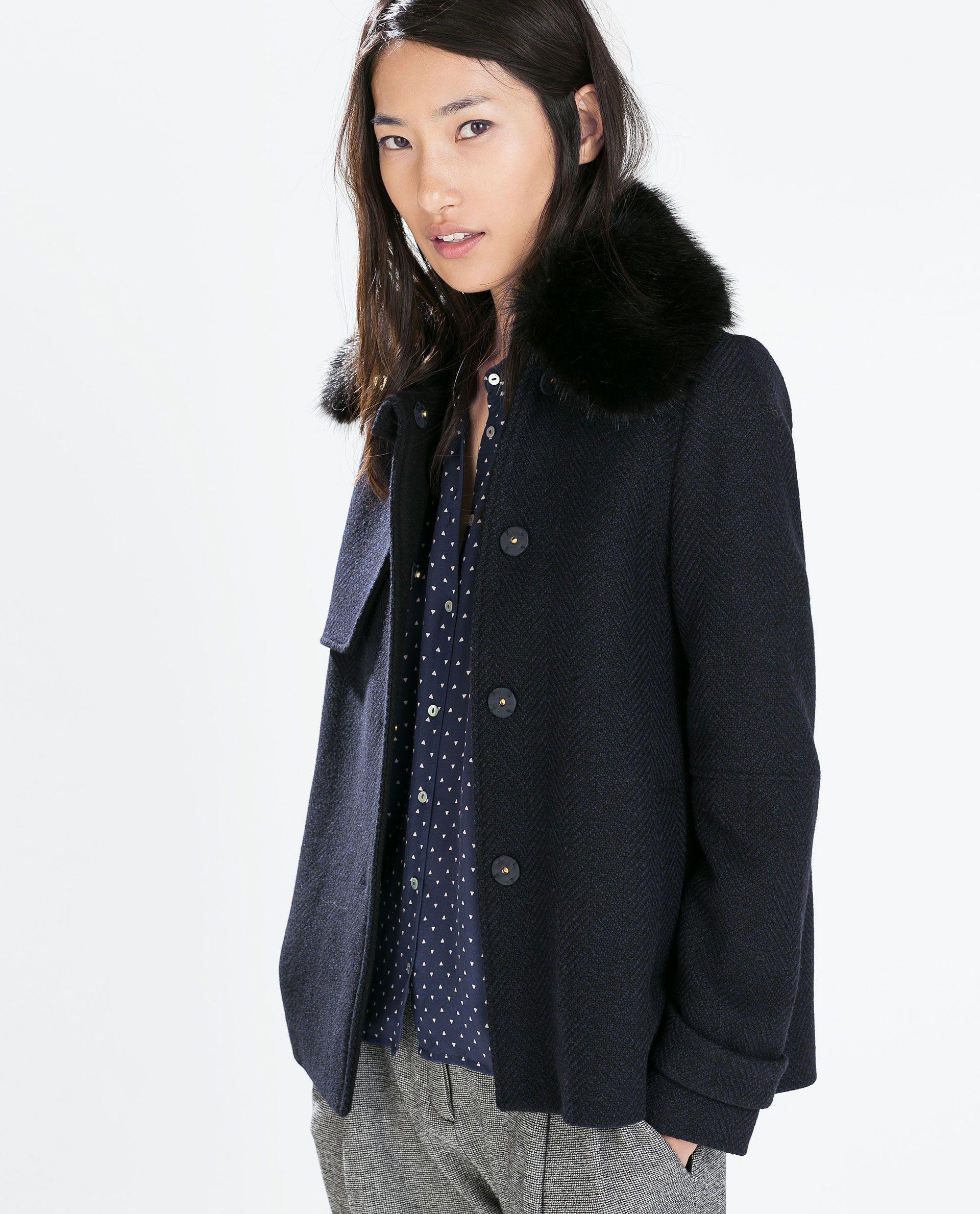54b65c6cc7 SHORT STRUCTURED COAT - Outerwear - WOMAN | ZARA Ukraine | Zara ...