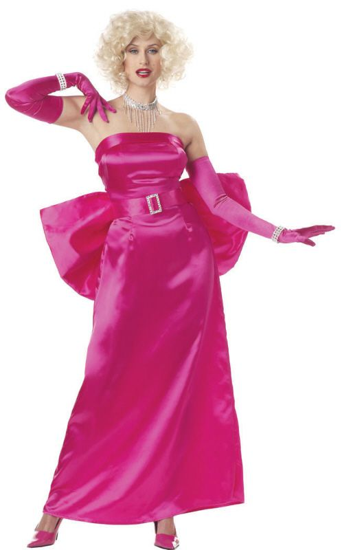 Fuchsia Marilyn Costume Costume - Diamonds Are a Girl\'s Best ...