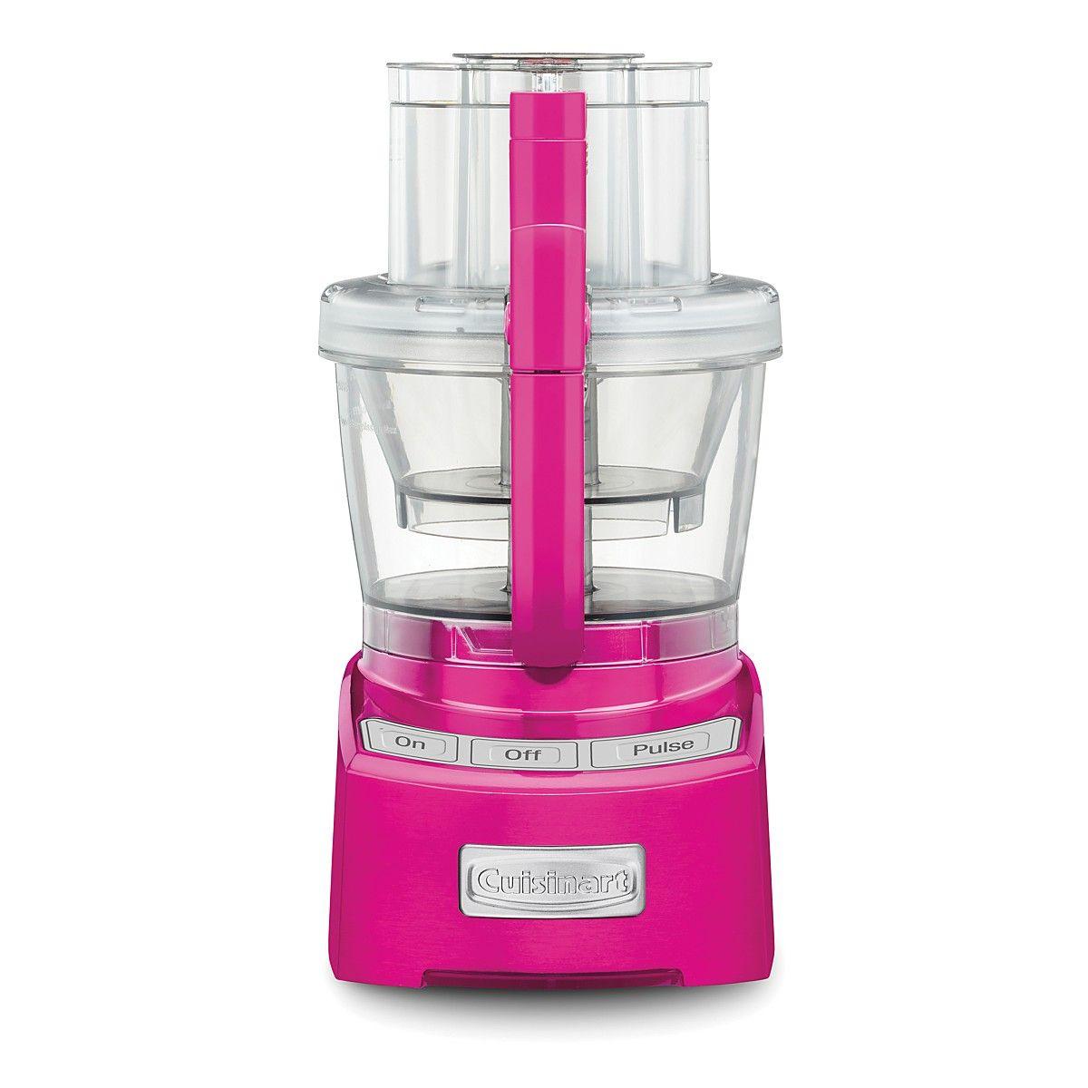 Cuisinart 12cup food processor metallic pink