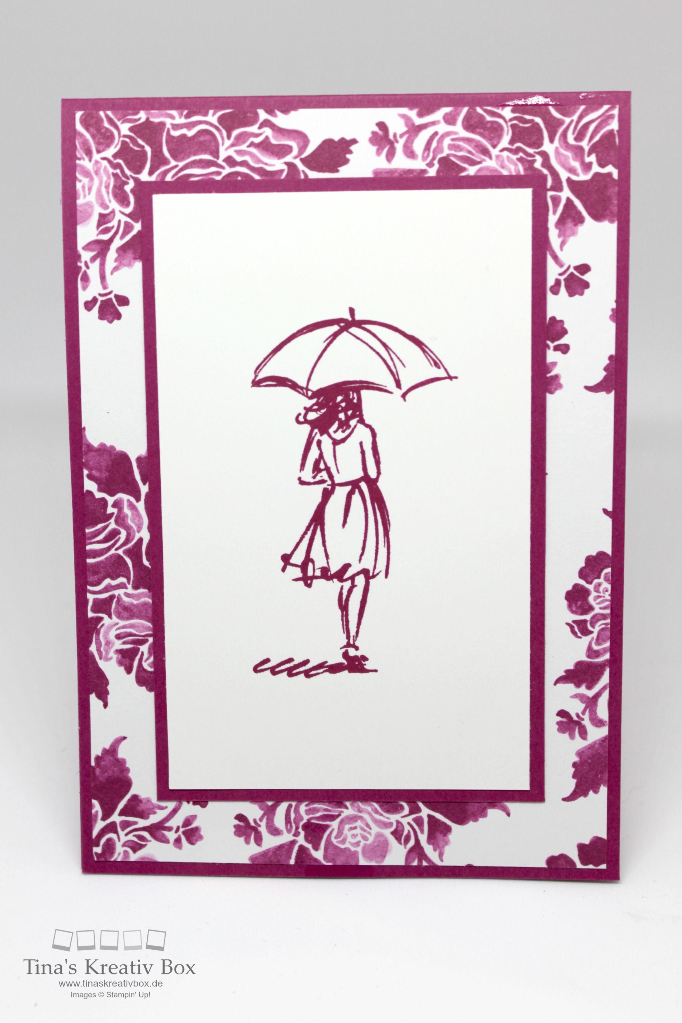 einfache karte mit stil mit produkten von stampin 39 up tina 39 s kreativbox cartes. Black Bedroom Furniture Sets. Home Design Ideas