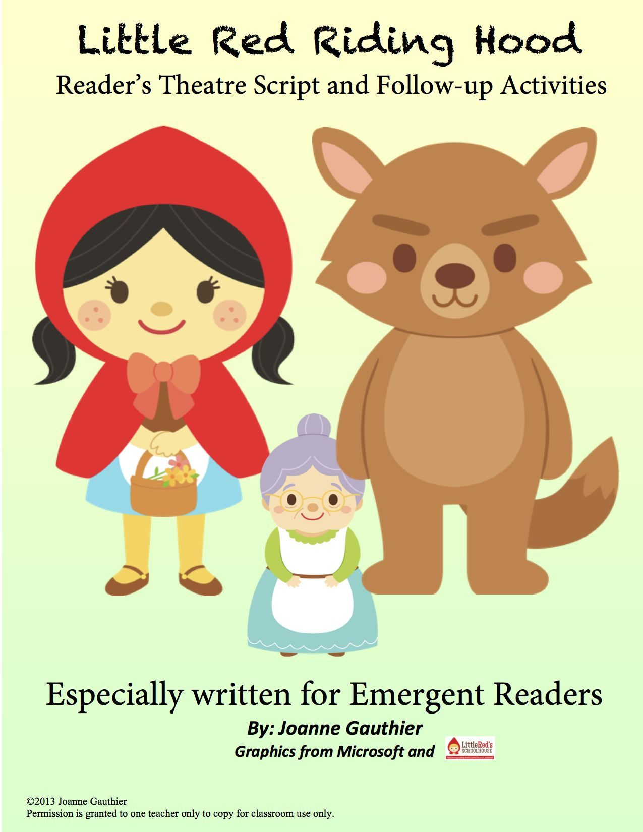 Little Red Riding Hood Readers Theater For Emergent Readers With