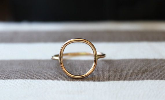 Full Circle Ring//Pink or Yellow 14kt Gold filled//Handcrafted ...