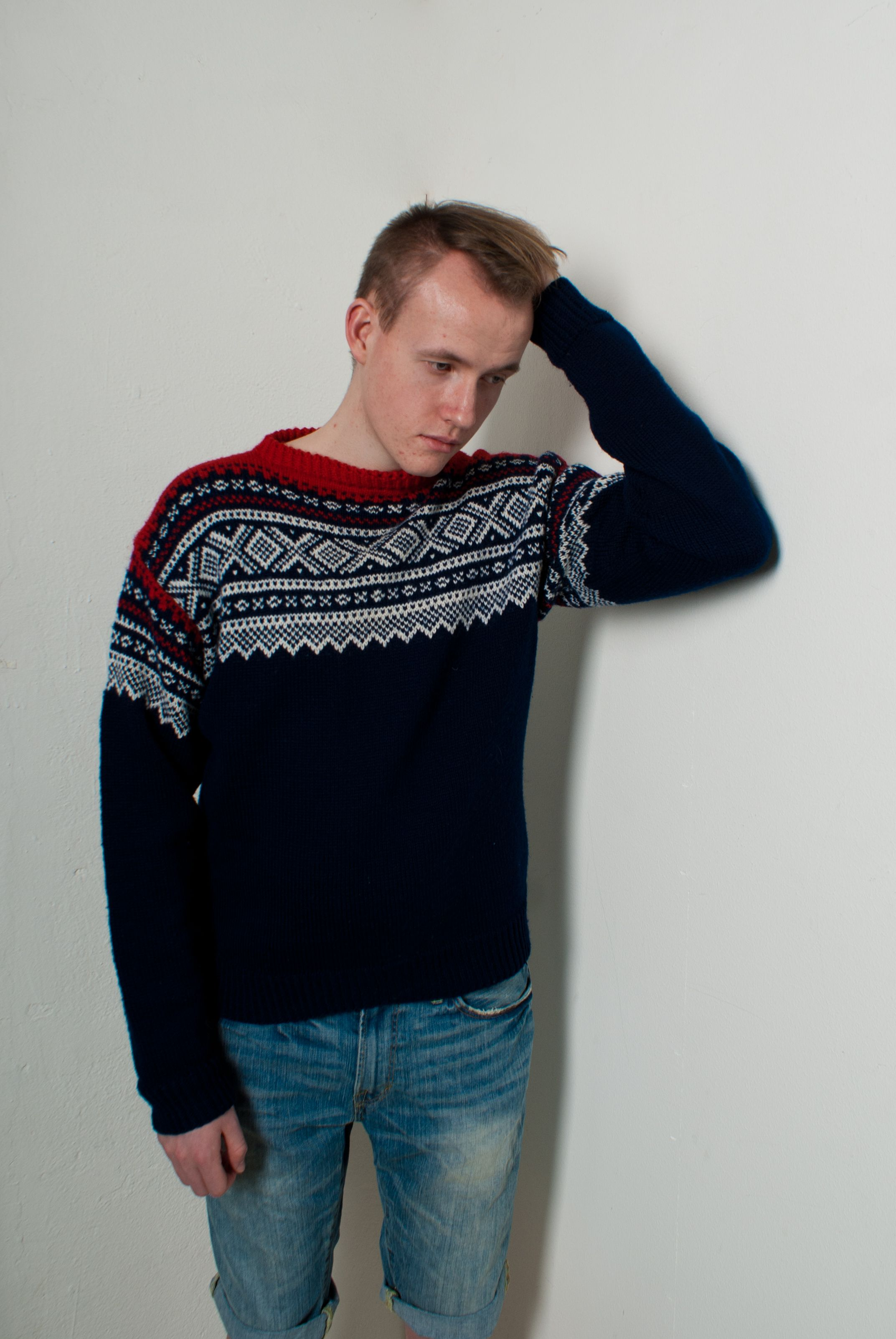 Classic Norwegian Knitted Marius Sweater Building Style