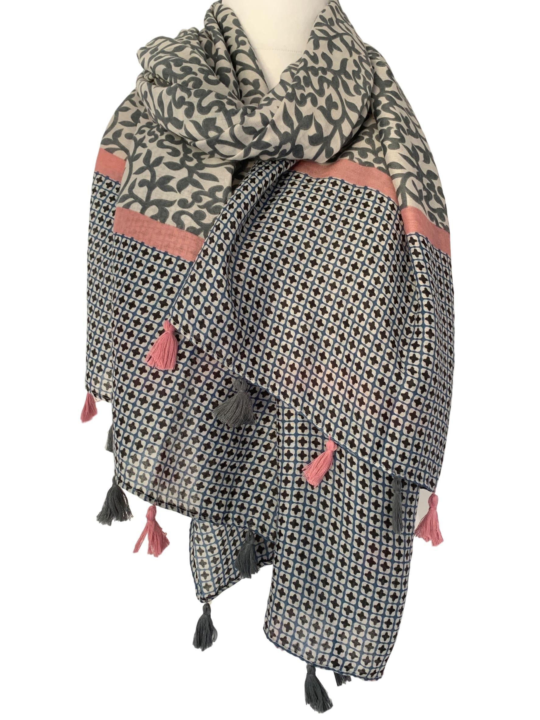 Black  Polka Dot Lady Women  Soft Scarf Shawl Wrap Headscarf Stole