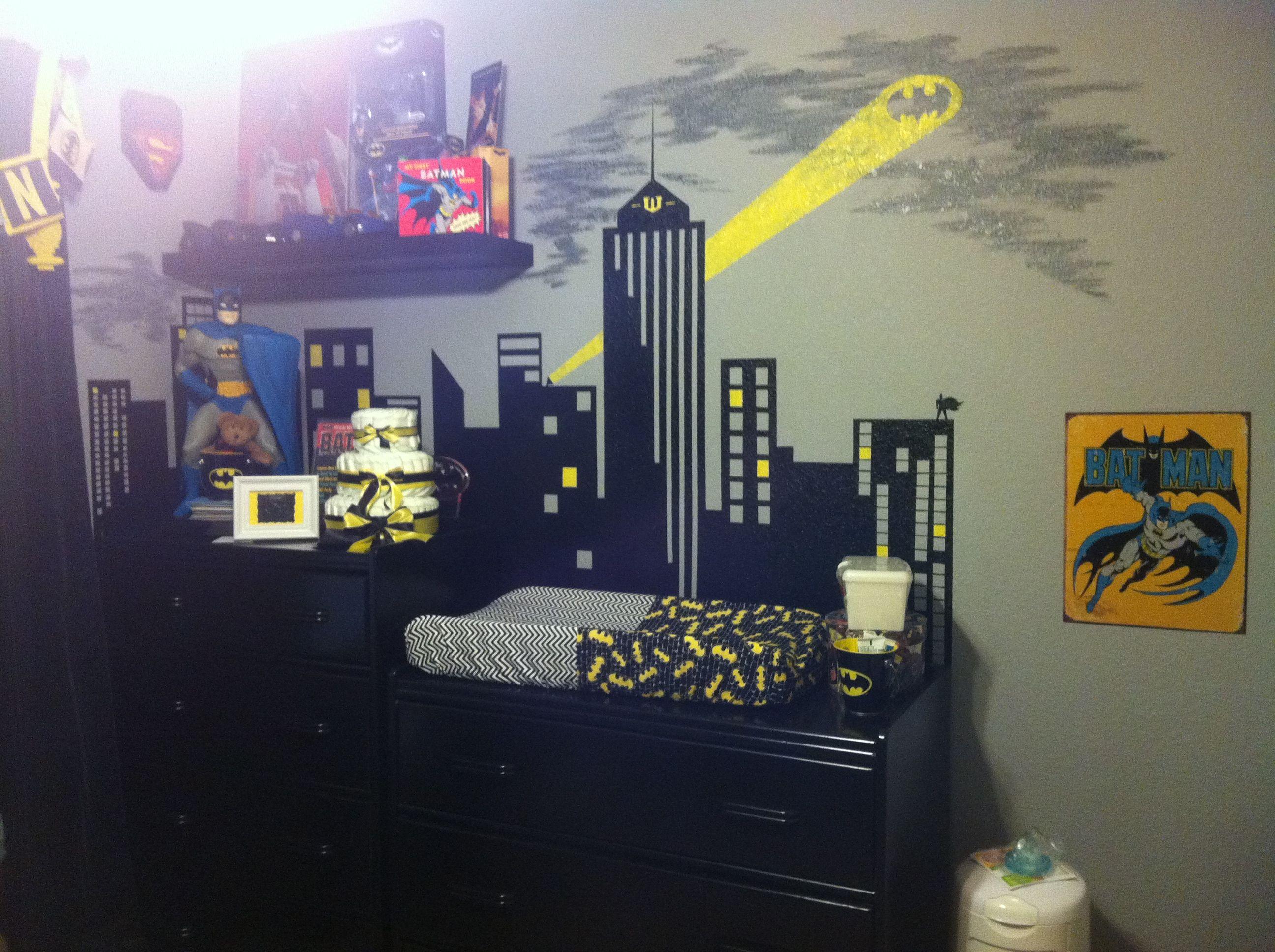 Superhero Boys Room Batman Nursery Print Nursery Prints Batman Room Dccor Boys