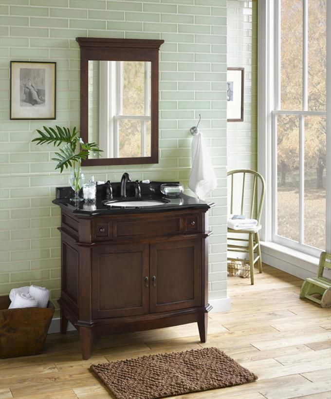 "Solerno 36"" Wood Vanity Cabinet with 2 Doors"