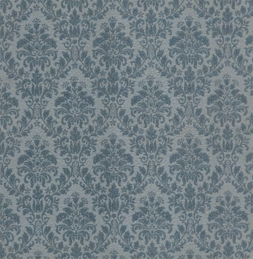 Blue Damask Vintage Wallpaper | 1950s Vintage Antique Wallpaper