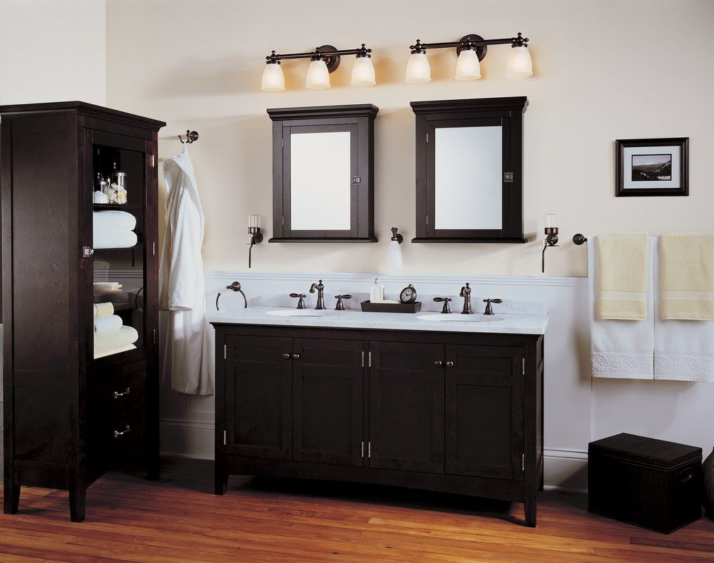 Black And White Contemporary Bathroom Vanity Light