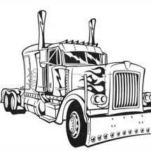 transformers optimus prime semi truck coloring page - Optimus Prime Face Coloring Pages