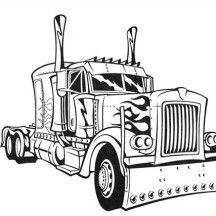 Transformer\'s Optimus Prime Semi Truck Coloring Page | Coloring ...