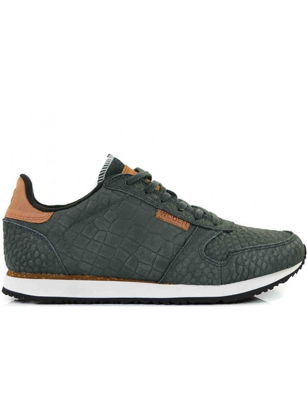 Schoenen Dames Grey Leather schoenen Woden Croco Ydun Dark qxZnp7Tt