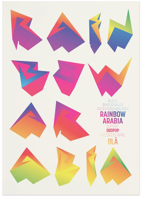 The Metric System Design Studio Rainbow Arabia Poster Gig Posters Poster Design