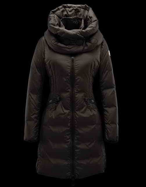 Women Moncler Cyroselle Dark Brown Coats at discounted price