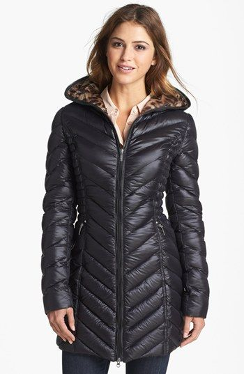Laundry By Shelli Segal Hooded Packable Down Jacket Jackets
