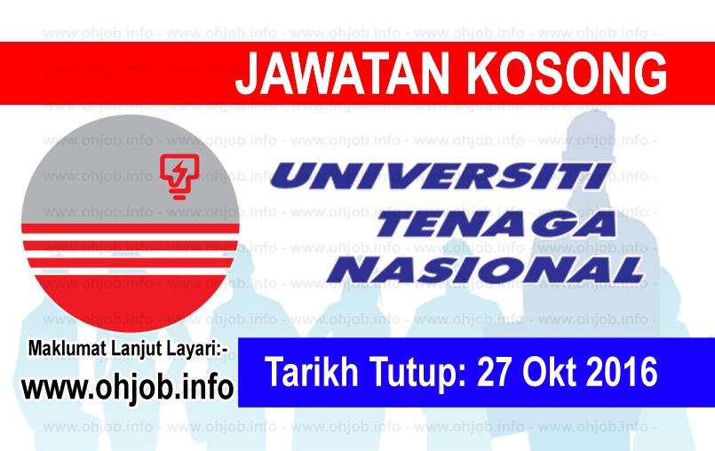 Jawatan Kosong Universiti Tenaga Nasional (UNITEN) (27