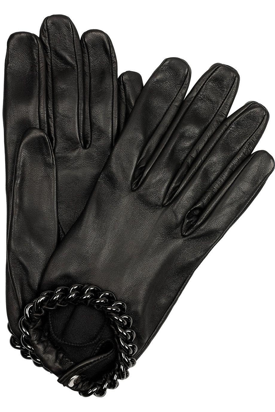0603c16ae Causse Gantier | Ivanna chain-trimmed leather gloves | NET-A-PORTER.COM