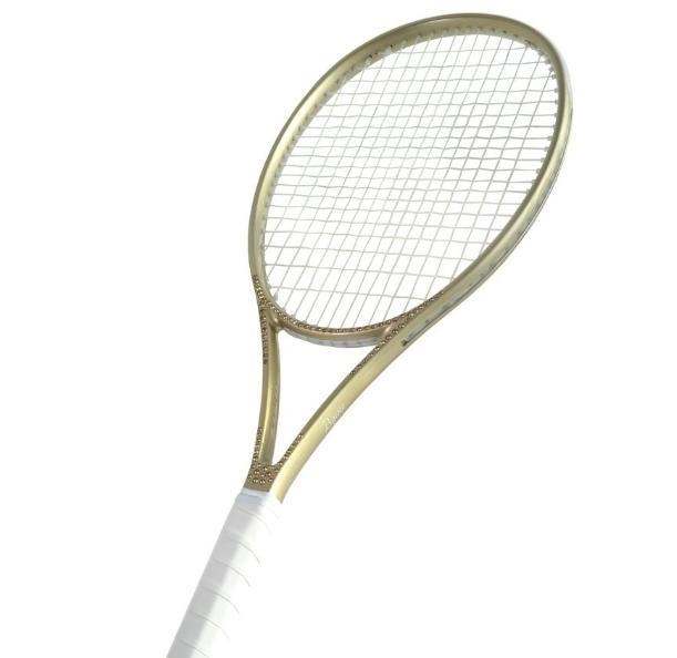Bijou Gold Goddess Tennis Racquet Adorned With Swarovski Crystals