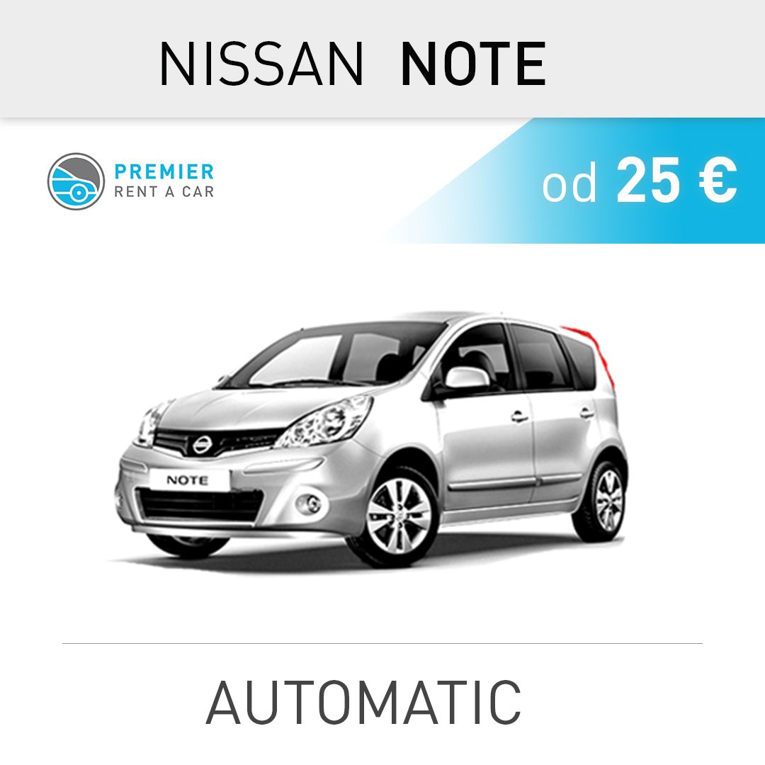 NISSAN NOTE - automatic from 25 € / per day 📍Aerodrom ...