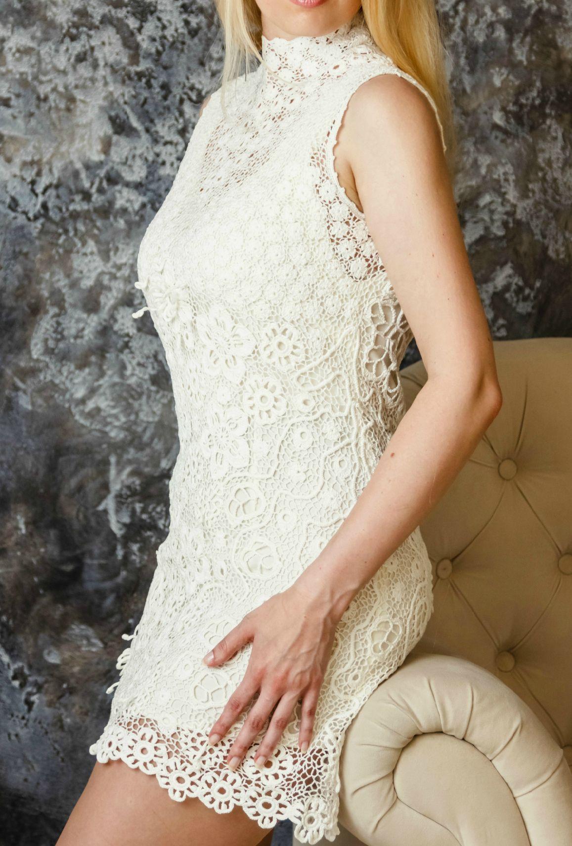 Knitted wedding dress  short wedding dress sexy wedding dress knitted wedding dress sexy