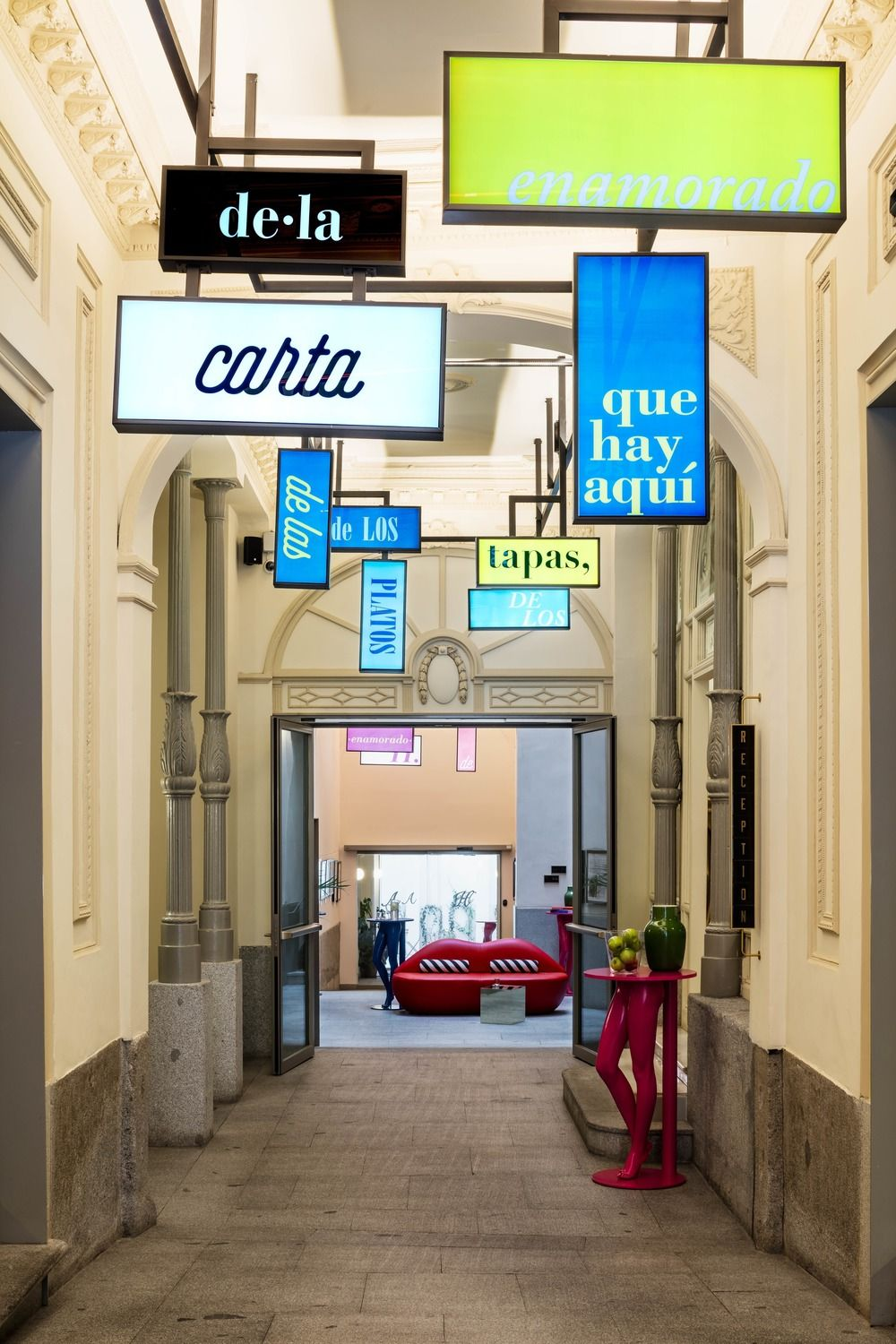 The Axel Hotel Madrid Achieves Character Through Color - Design Milk